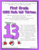 First Grade CORE Math Unit 13