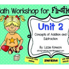 Unit 2- First Grade Math CC- Number Sense and Operations