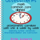 Unit 4- Assessment Pack Math Common Core