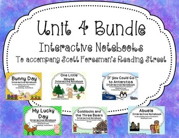 Unit 4 Bundle Reading Street Interactive Notebook Journal