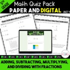 Unit 4 Common Core Math Quizzes - *Fractions* - 5th