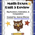 Unit 5 Math Boxes Review 4th Grade