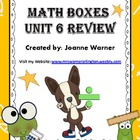 Unit 6 Division &amp; Angles Math Boxes Review 4th Grade