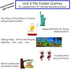 Unit 6 File Folder Games:  3rd Grade Reading Street