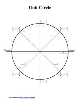 Unit Circle - blank and completed