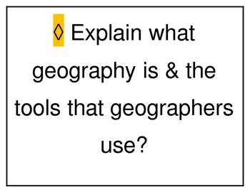 Unit Learning Goals: Introduction to Geography and Culture