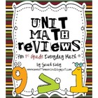 Unit Math Reviews - 1st Grade Everyday Math
