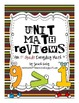 Unit Math Reviews - 1st Grade Everyday Math®