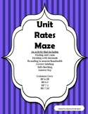 Unit Rate: An engaging maze to review unit rates (Ratios a