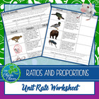 Unit Rate - Animal Top Speed Problems - 6.RP.A.2 - FREEBIE