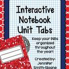 Unit Tabs for Interactive Notebooks (All Subjects)