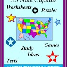 United States Capital Cities: Lessons, Tests, Puzzles, & W