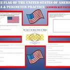 United States Flag ~ Area &amp; Perimeter Practice w/ Answer Key