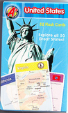 United States Flash Card Set Unused