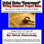 "United States ""Government"" High School Writing Project Menu!"