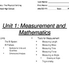 Units and Tools for Measurement