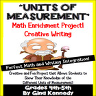 Units of Measurement Enrichment Math Project, Your Student
