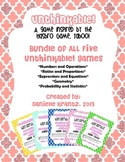 Unthinkable! Math Vocabulary Game BUNDLE Common Core Aligned