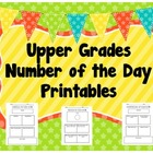Upper Grades Number of the Day Printables