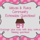 Urban &amp; Rural Community: Critical Thinking Extension Questions
