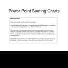 Use Power Point to Create Seating Charts