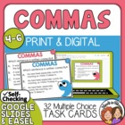 Using Commas Task Cards: 32 Multiple Choice Sentence Cards