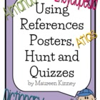 Using References Posters and Assessments