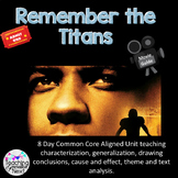 """Using """"Remember the Titans"""" to teach characterization and"""