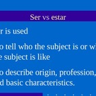 Using Ser and Estar
