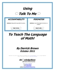 Using &quot;Talk To Me&quot; To Teach The Language of Math! (FREE DOWNLOAD)
