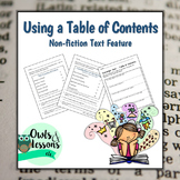 Using a Table of Contents - Nonfiction Text Feature