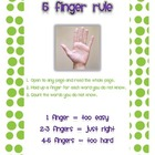 Using the 5 Finger Rule Poster