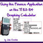 Using the Finance Application on the TI 83/84