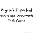 VA Studies Important People Task Cards