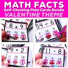 VALENTINE Owl Poke MATH FACTS Bundle