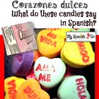 VALENTINE'S DAY: Corazones Dulces Worksheet in Spanish
