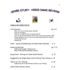 VIDEO GAME REVIEWS:  A Genre Study