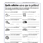 VOCABULARY - Association d'images Quelle collation préfères-tu?