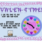 Valentime! Telling Time to the Hour, Half-Hour &amp; Quarter-Hour