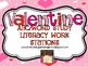 Valentine ABC/Word Study Literacy Work Stations