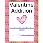 Valentine Addition Memory Match Card Game