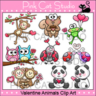 Valentine Animals Clip Art Value Pack - Personal & Commercial Use