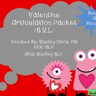 Valentine Articulation Pack /S,R,L/- Speech Therapy