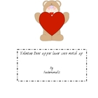 Valentine Bear upper/ lower case match