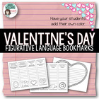 Valentine Bookmarks - Practice Figurative Language / Poetry Terms