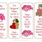 Valentine Bookmarks from Teacher
