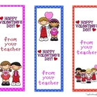 Valentine Bookmarks from the Teacher