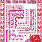 Get The Love Bug! Valentine Borders Frames Clipart CU OK