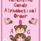Valentine Candy ABC Ordering Center with First Grade Sight Words
