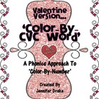 Valentine 'Color By CVC Word' ~Phonics Approach To Color B